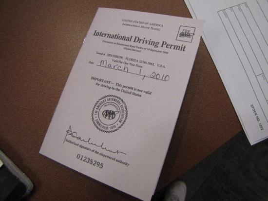 Bằng lái xe quốc tế có giá trị bao lâu?